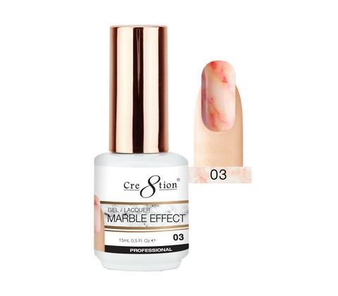 Cre8tion - Marble Effect Soak Off Gel/Lacquer .5oz 03