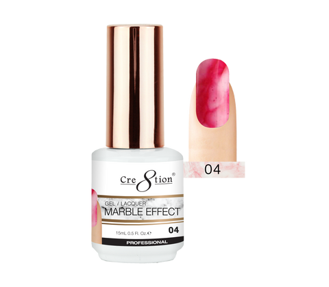 Cre8tion - Marble Effect Soak Off Gel/Lacquer .5oz 04