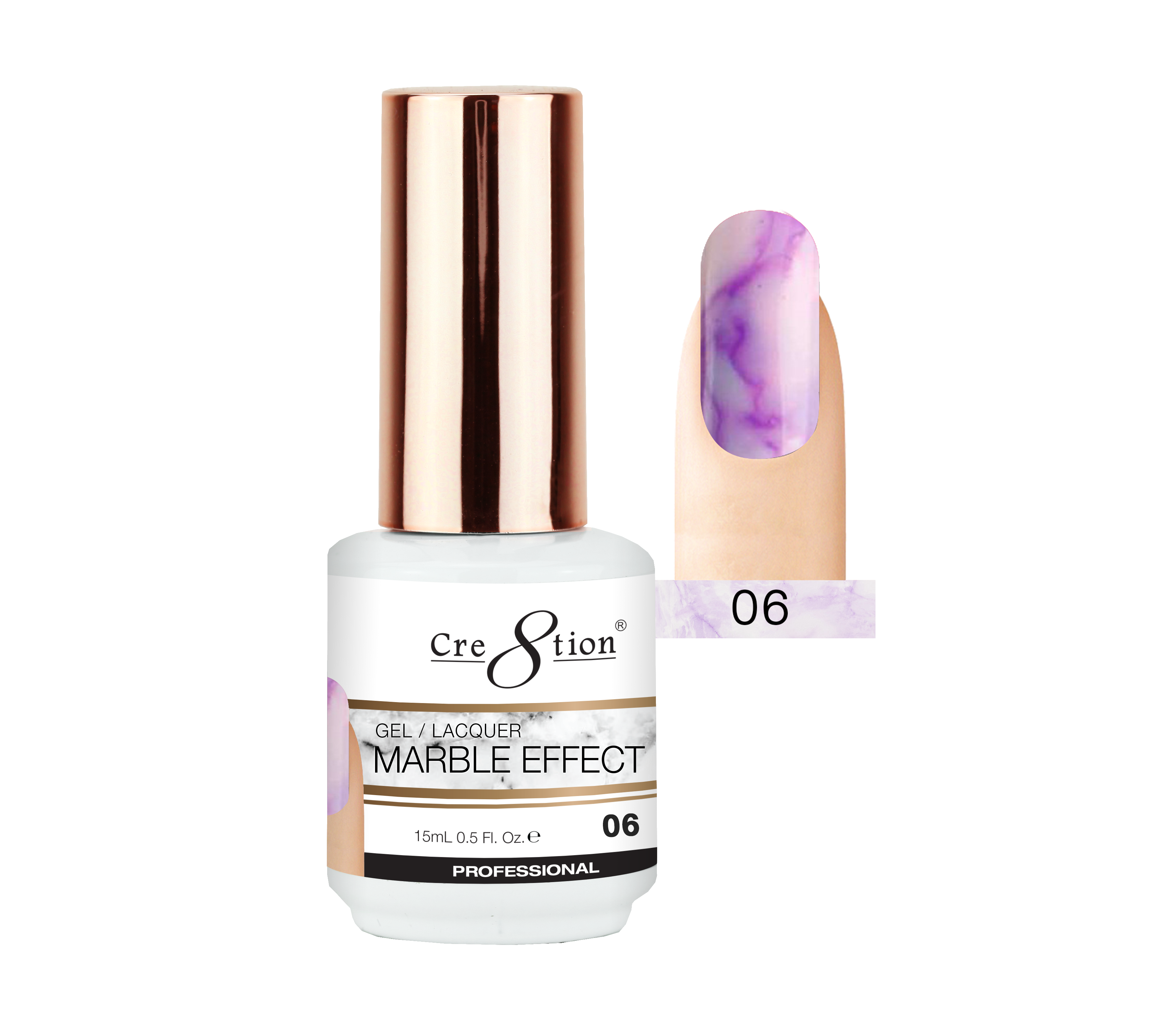 Cre8tion - Marble Effect Soak Off Gel/Lacquer .5oz