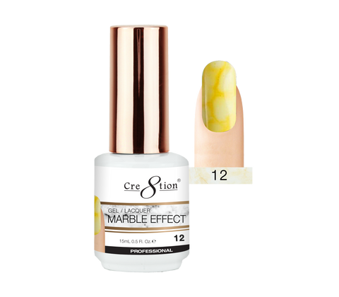 Cre8tion - Marble Effect Soak Off Gel/Lacquer .5oz 12