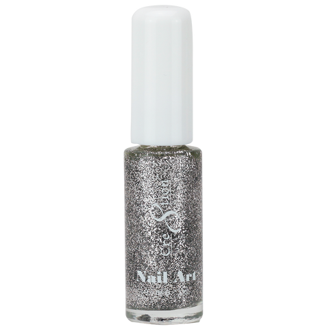 Cre8tion -  Nail Art Design Thin Detailer 27 - Silver Glitter