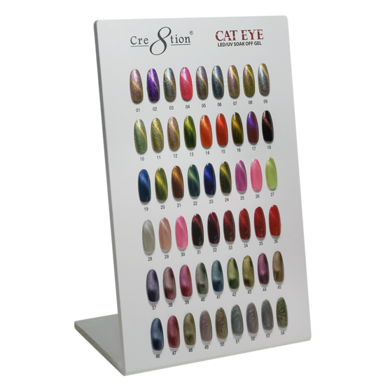 Cre8tion - Super Cat Eye Soak Off Gel Full Set - 06 Colors Collection - $9.00/each- included 1 C8 Top Coat and 1 Magnet