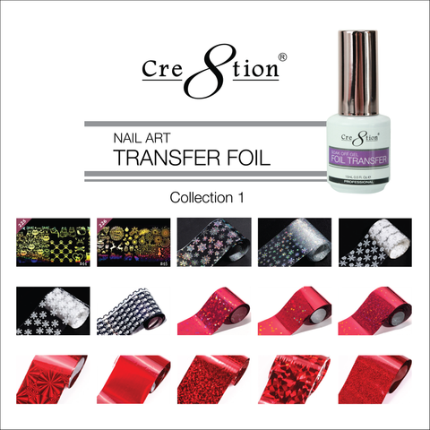 Cre8tion 15 Designs Nail Art Transfer Foil Collection 1