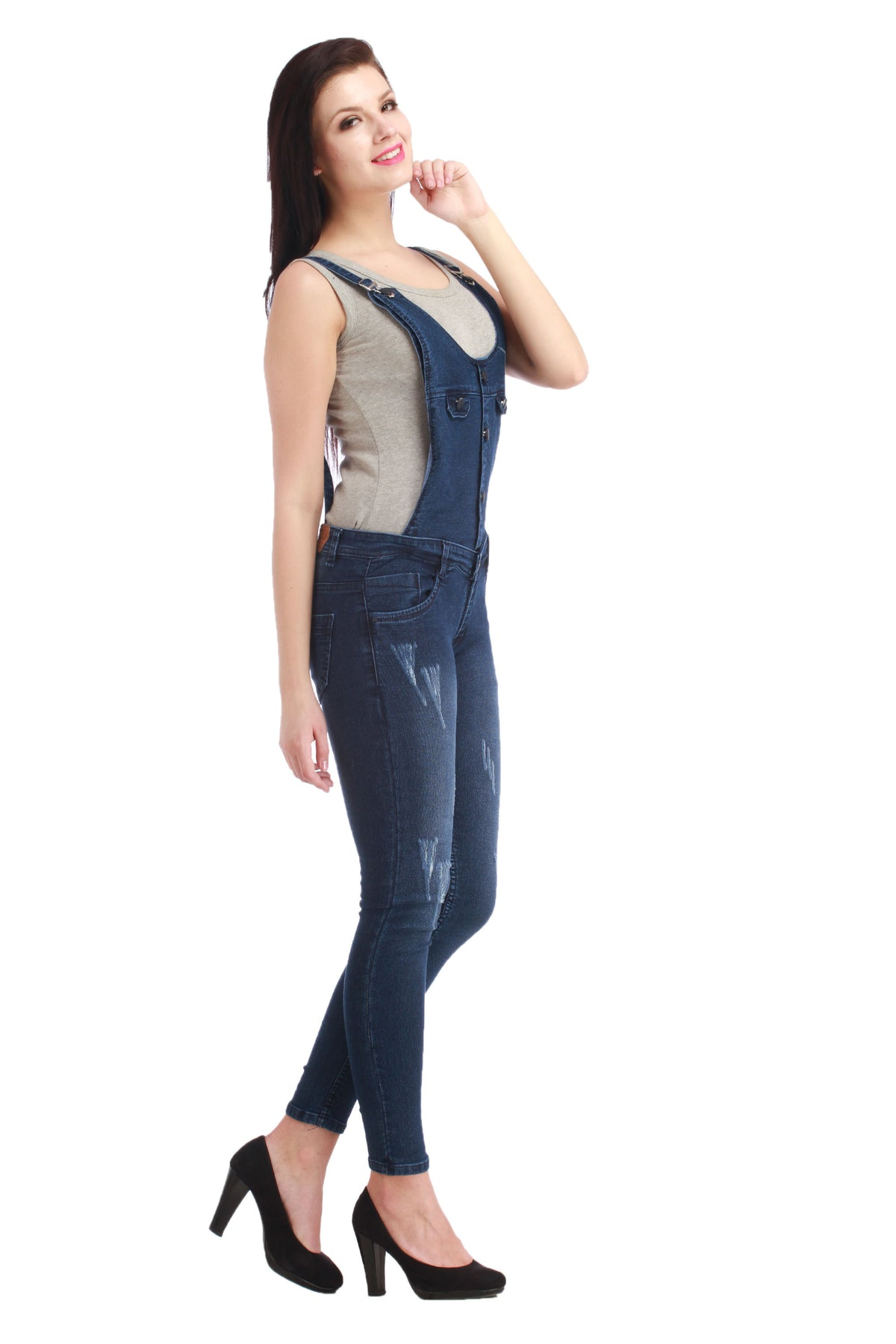 5 Button Classic Blue dungaree