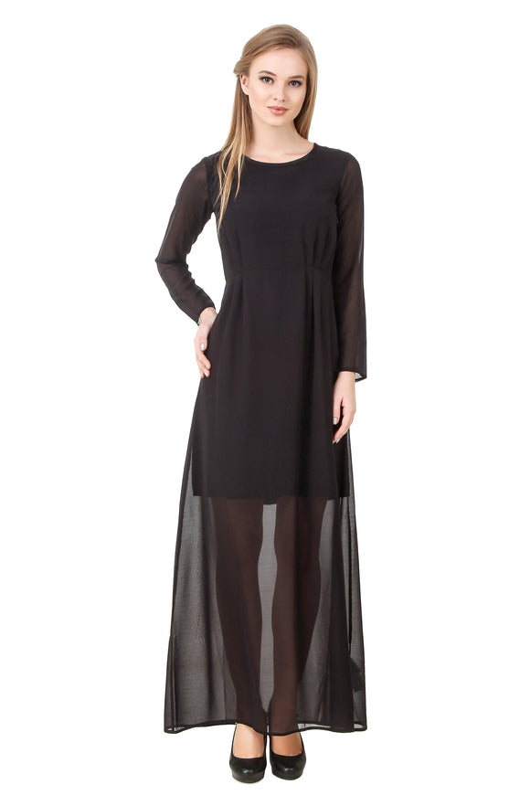 Limited Addition Mesh Maxi Black Dress