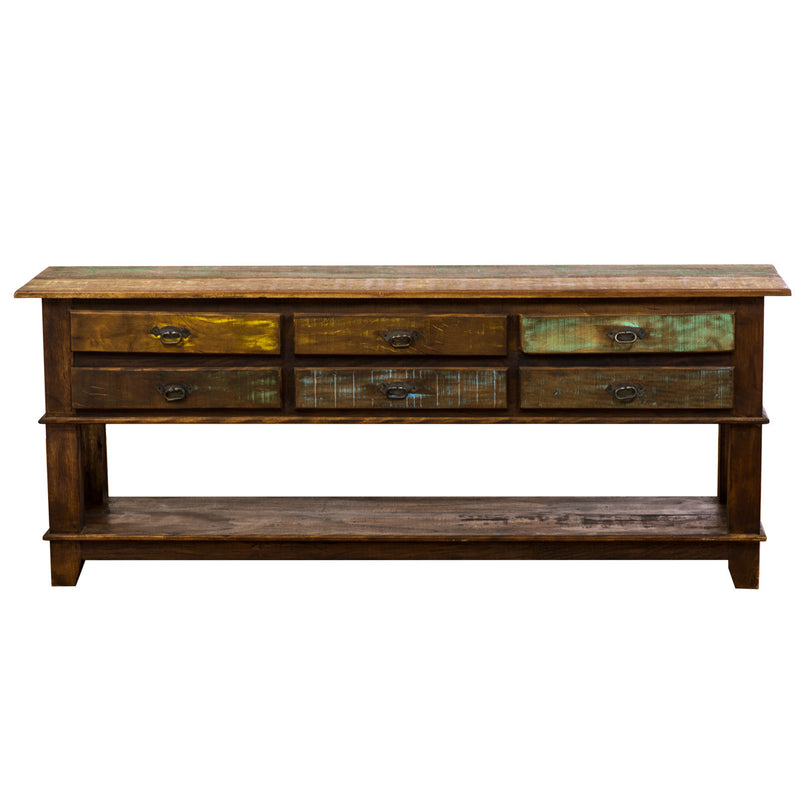 console, console table,sofa table, table, credenza, sideboard, reclaimed wood furniture, reclaimed wood, solid wood, peroba wood, antique, rustic, vintage, boho chic, eco-friendly, sturdy wood, Save The Planet, save The Planet Furniture