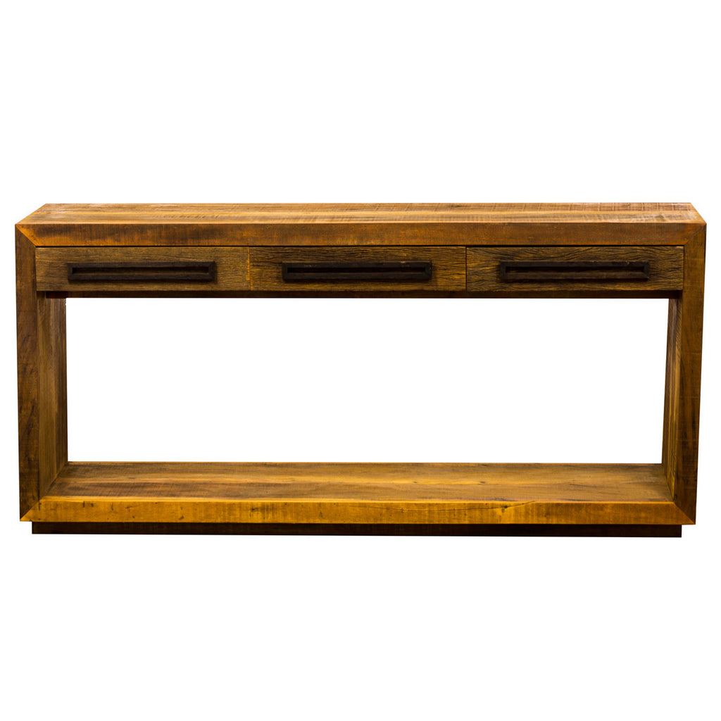 console,rustic modern console, reclaimed wood console,  console table,sofa table, table, credenza, sideboard, reclaimed wood furniture, reclaimed wood, solid wood, peroba wood, antique, rustic, vintage, boho chic, eco-friendly, sturdy wood, Save The Planet, save The Planet Furniture