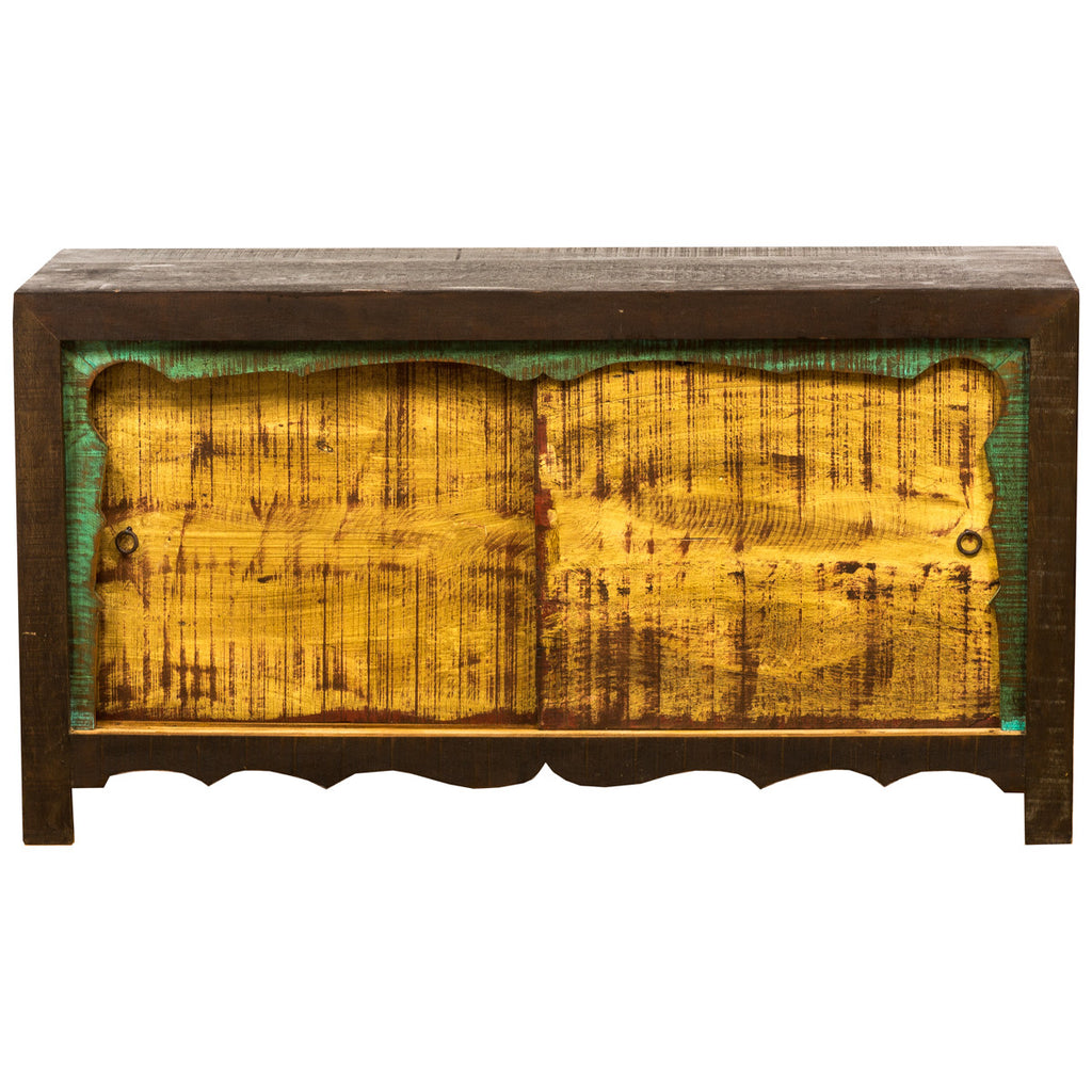 reclaimed wood sideboard, mongolian, yellow, green, dark brown, exotic sideboard, eclectic,Save The Planet Furniture, mongolian, buffet, sideboard, credenza, unique, reclaimed wood, reclaimed peroba wood, peroba, sliding doors, rustic, antique wood, asian , eco-friendly, handmade, hand carved