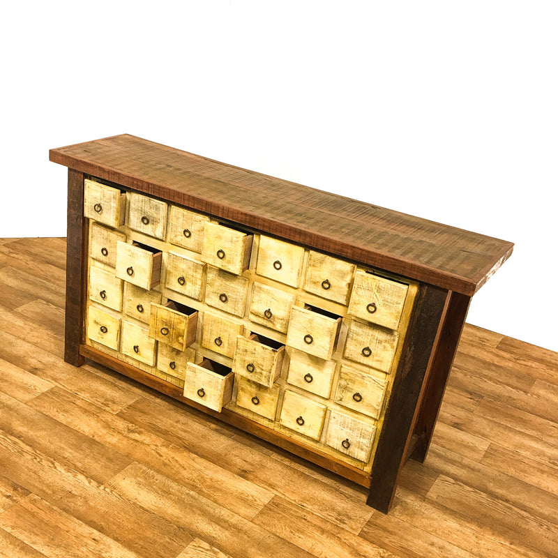 apothecary, chest of drawers, rustic furniture, antique, vintage, boho-chic,