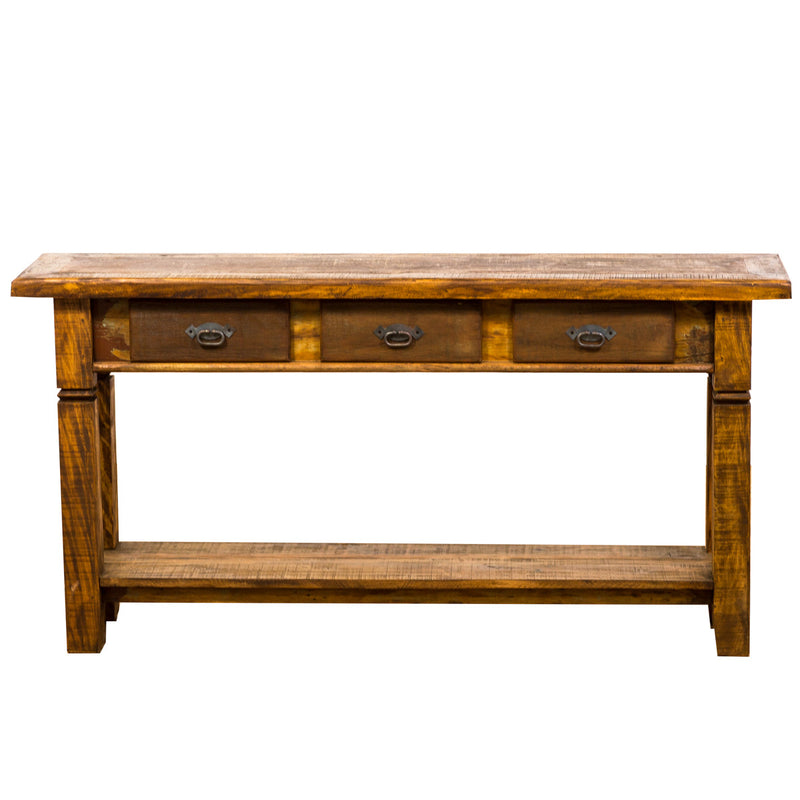 console, rustic reclaimed wood console, rustic wood, console table, sofa table, table, credenza, sideboard, reclaimed wood furniture, reclaimed wood, solid wood, peroba wood, antique, rustic, vintage, boho chic, eco-friendly, sturdy wood, Save The Planet, Save The Planet Furniture