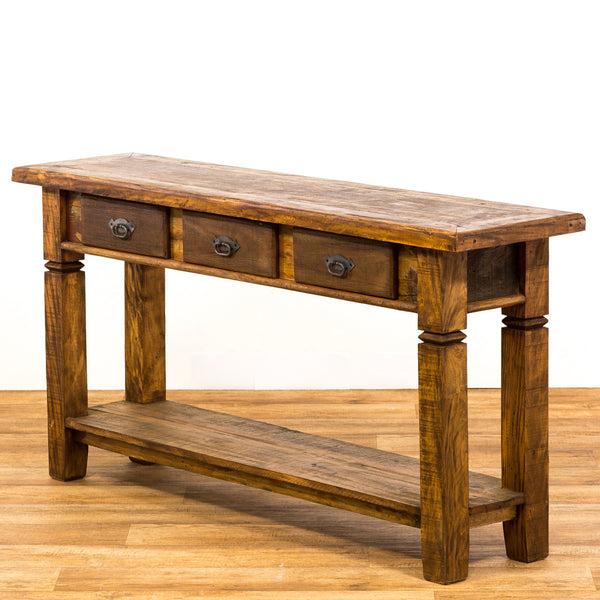 console, rustic reclaimed wood console, rustic wood, console table,