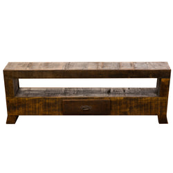 media, media console, living room, solid wood, antique, rustic, vintage, reclaimed wood, peroba, handmade, eco-friendly, tv stand, media storage
