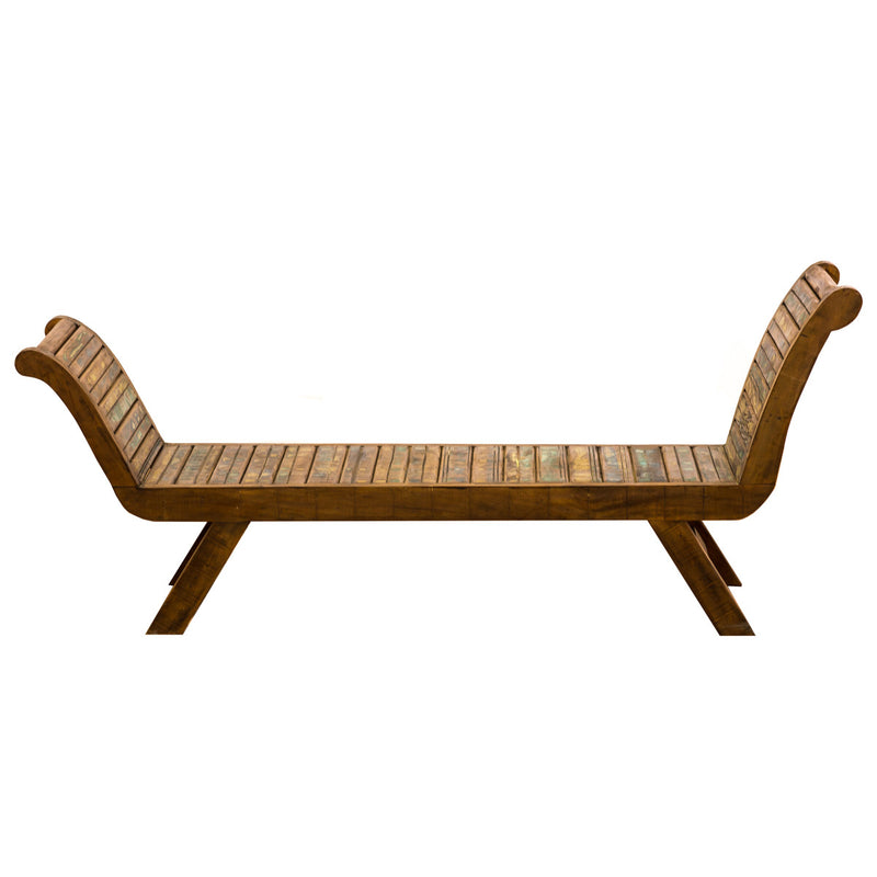 bench, outdoor bench, patio furniture, dining bench, asymmetric bench,