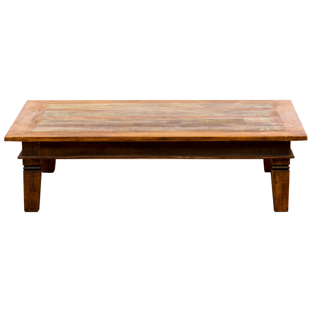 Coffee table, Large Coffee Table, Green, Brown, Rectangle, Boho-chic, Boho, bohemian interior, solid wood, reclaimed wood, reclaimed peroba wood, peroba wood, peroba, Save The Planet, Save The Planet Furniture