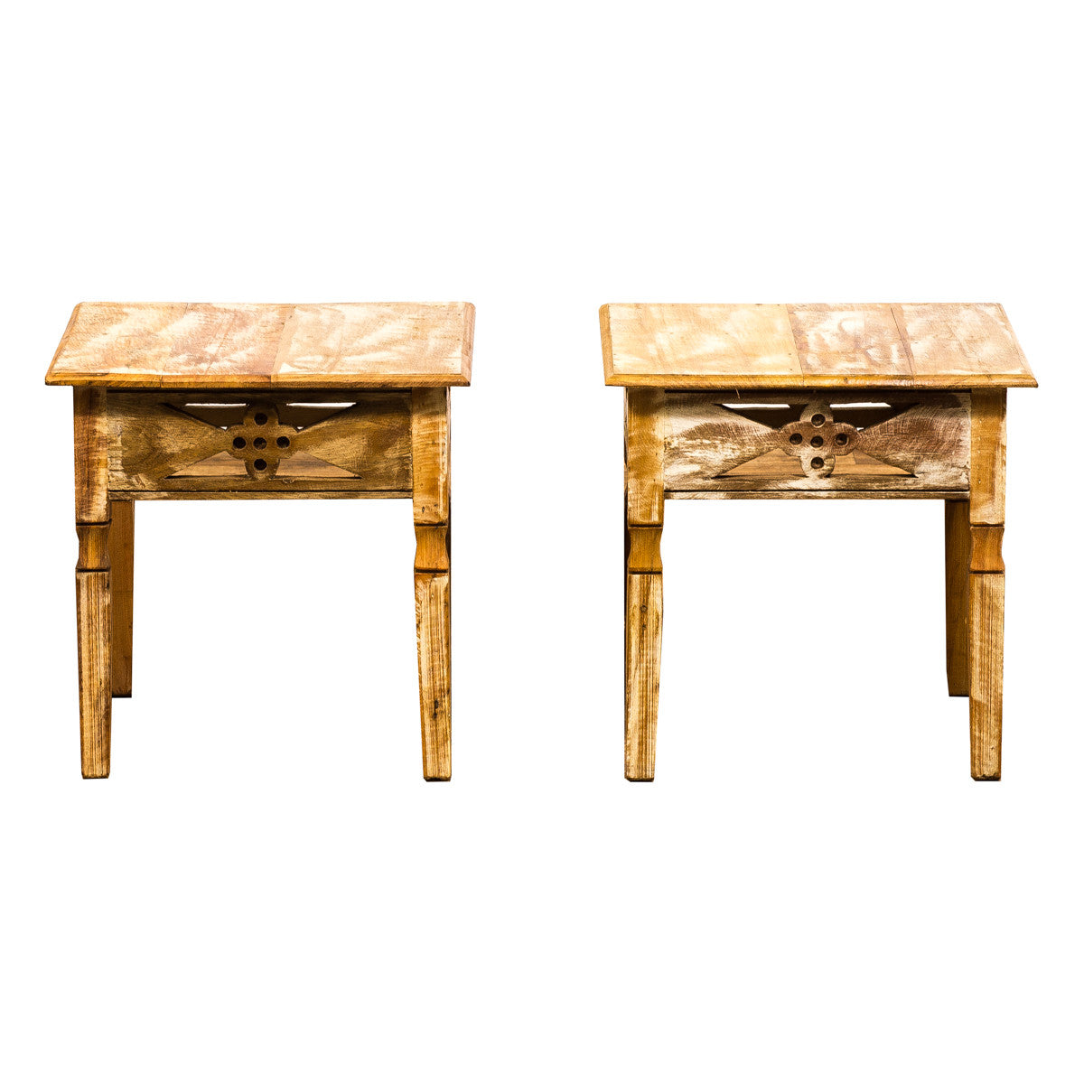 peroba wood furniture. Side Table, End Pair, Solid Wood, Peroba Reclaimed Wood Furniture