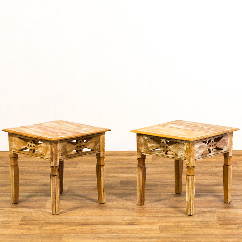 Reclaimed Wood Side Tables - a Pair