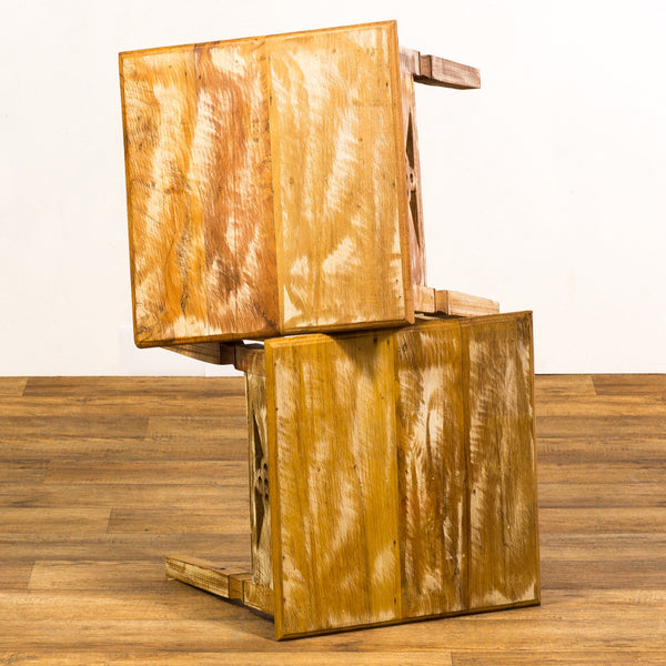 reclaimed wood side table, end tables, peroba wood, reclaimed wood,