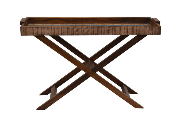 Reclaimed Peroba Wood Handmade Console Tray Table Eco-Friendly