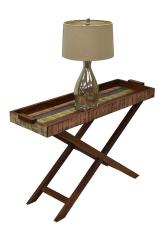 Reclaimed Wood Console Tray Table