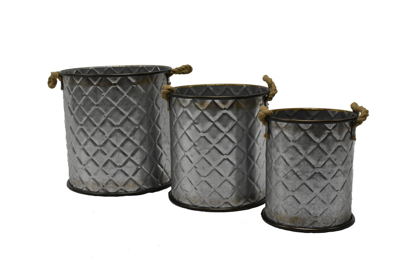 Deco Basket Round Set Of 3 FREE 4-Day Shipping