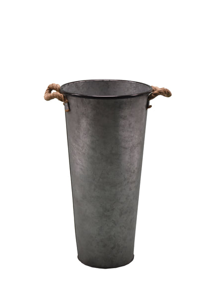 Flower Pot Medium Iron Deco FREE 4-Day Shipping