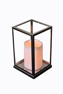 Lantern Silver With Glass Large FREE 4-Day Shipping