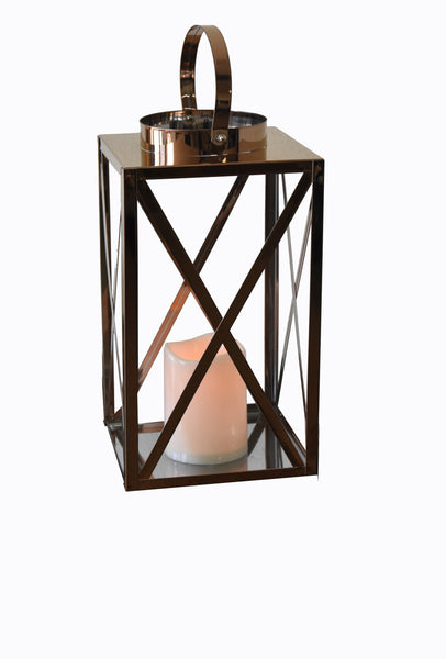 Lantern Led Golden Cube Large FREE 4-Day Shipping