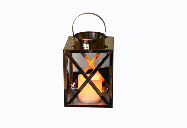 Lantern Led Golden Cube Medium FREE 4-Day Shipping
