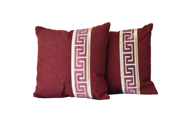 Kit Cushion Labyrinth  Design Wine Set of 2/Throw Pillow                                                                                                             FREE 4-Day Shipping