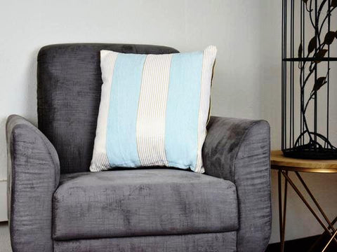 Kit Cushion 2 Tones OCEAN BLUE/Throw Pillow Set of 2 FREE 4-Day Shipping
