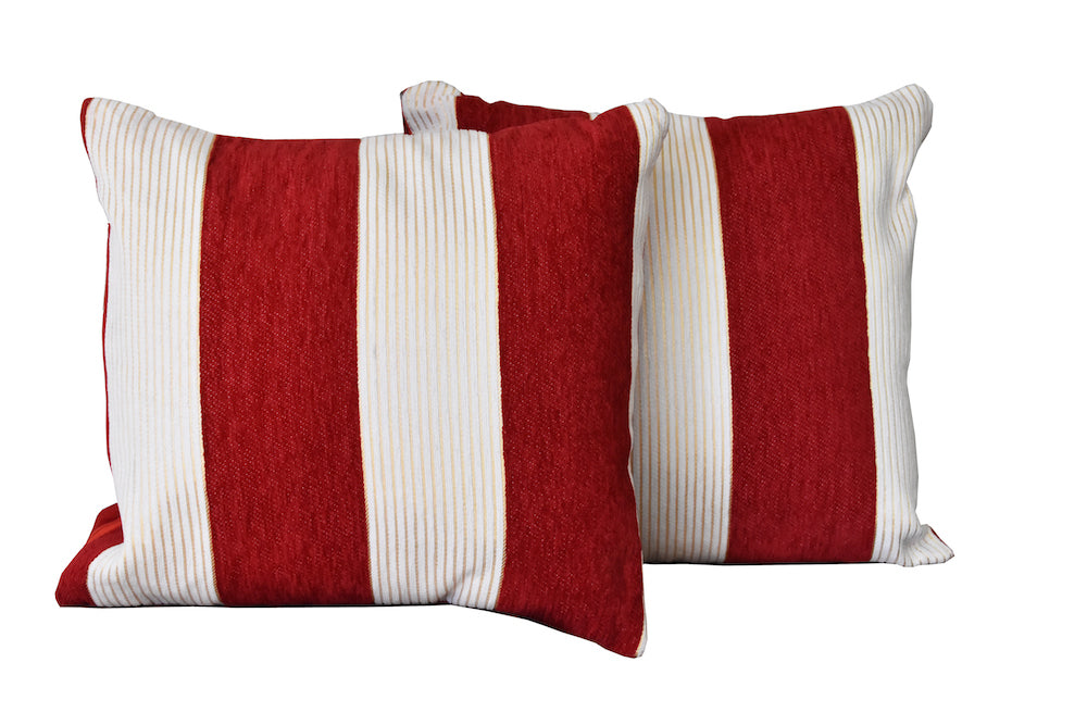 Kit Cushion 2 Tones WINE/Throw Pillow Set of 2  FREE 4-Day Shipping