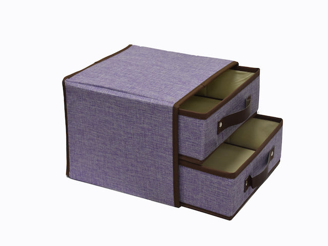 Storage Bin 2 Drawers Set of 2