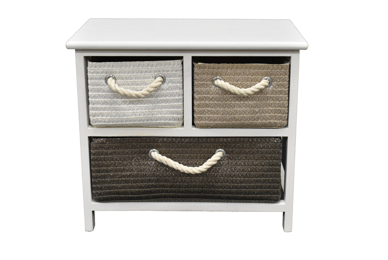 Cabinet California 3 Drawers  FREE 4-Day Shipping