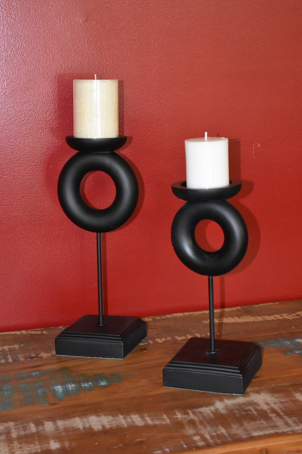Deco Candlestick Rings Set Of 2