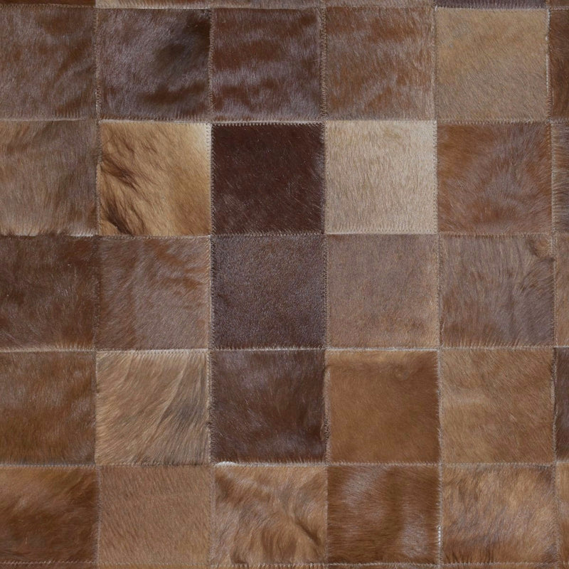 Handmade Brown Cowhide Area Rug