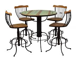 Reclaimed Peroba Wood Handmade Eco-Friendly Bistro Set Mixed