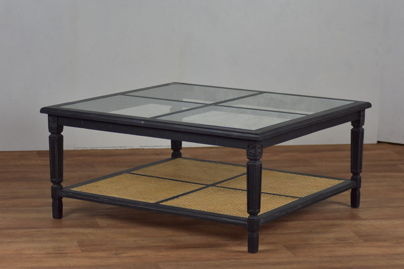 coffee table, glass coffee table, solid wood, casement, indoor table,