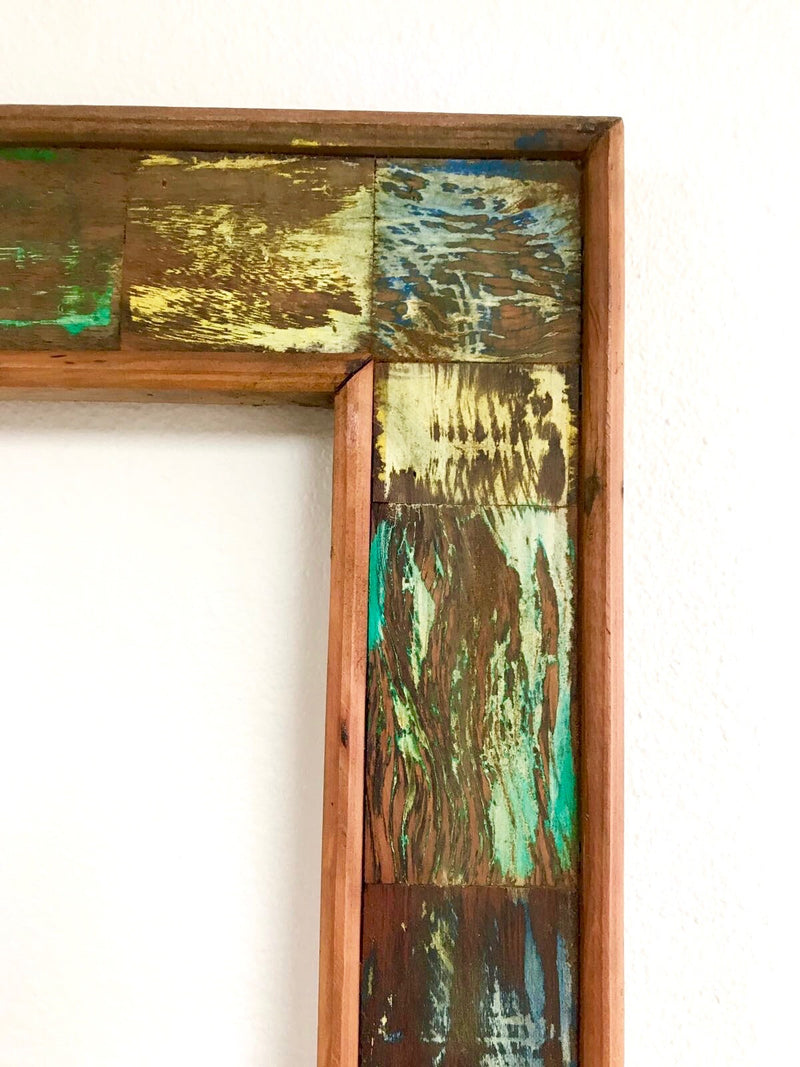 Reclaimed Wood Floor Mirror