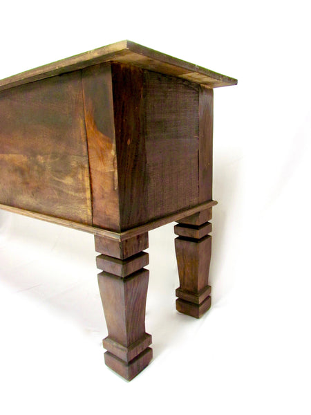 console, console table,sofa table, table, credenza, sideboard, reclaimed wood furniture,