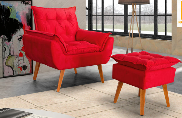 ottoman chair, comfy chairs, accent chairs, armchair ottoman
