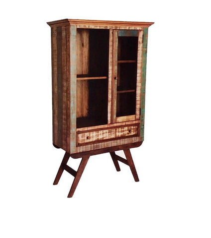 reclaimed wood display cabinet, vintage furniture, affordable online,