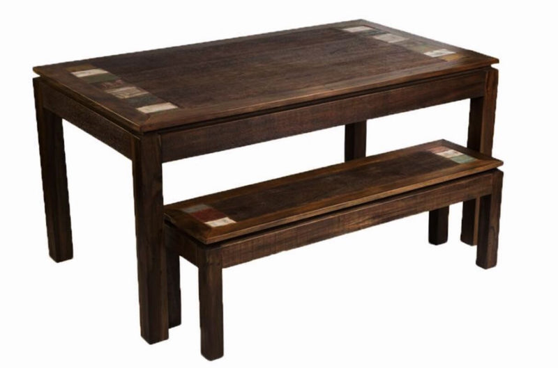 peroba wood, peroba rosa wood, 3 piece dining set, reclaimed wood,