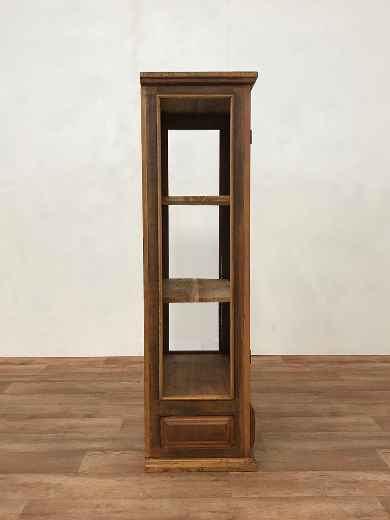 display cabinet, armoire, bookcase, reclaimed wood, peroba wood,