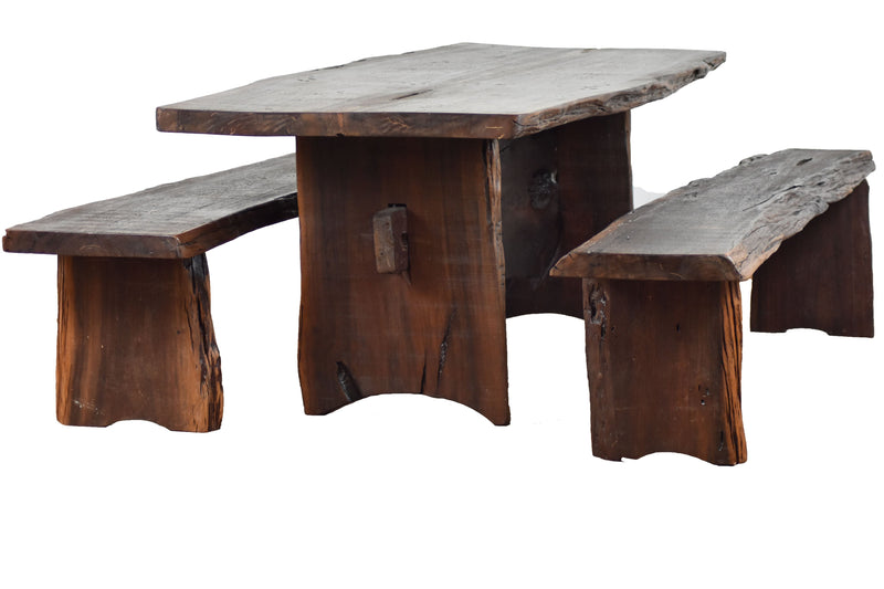 live edge dining set, tree root, tree root dining set, wood, vintage furniture,