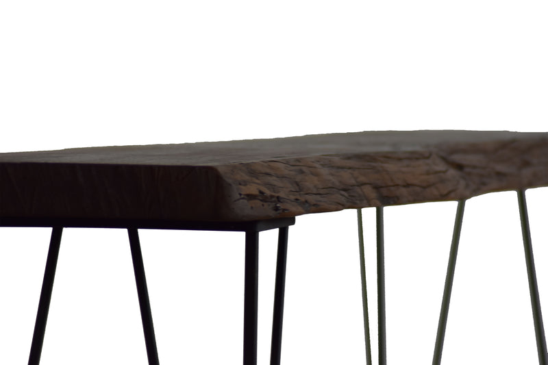 console table, live console, live edge console table, reclaimed wood,