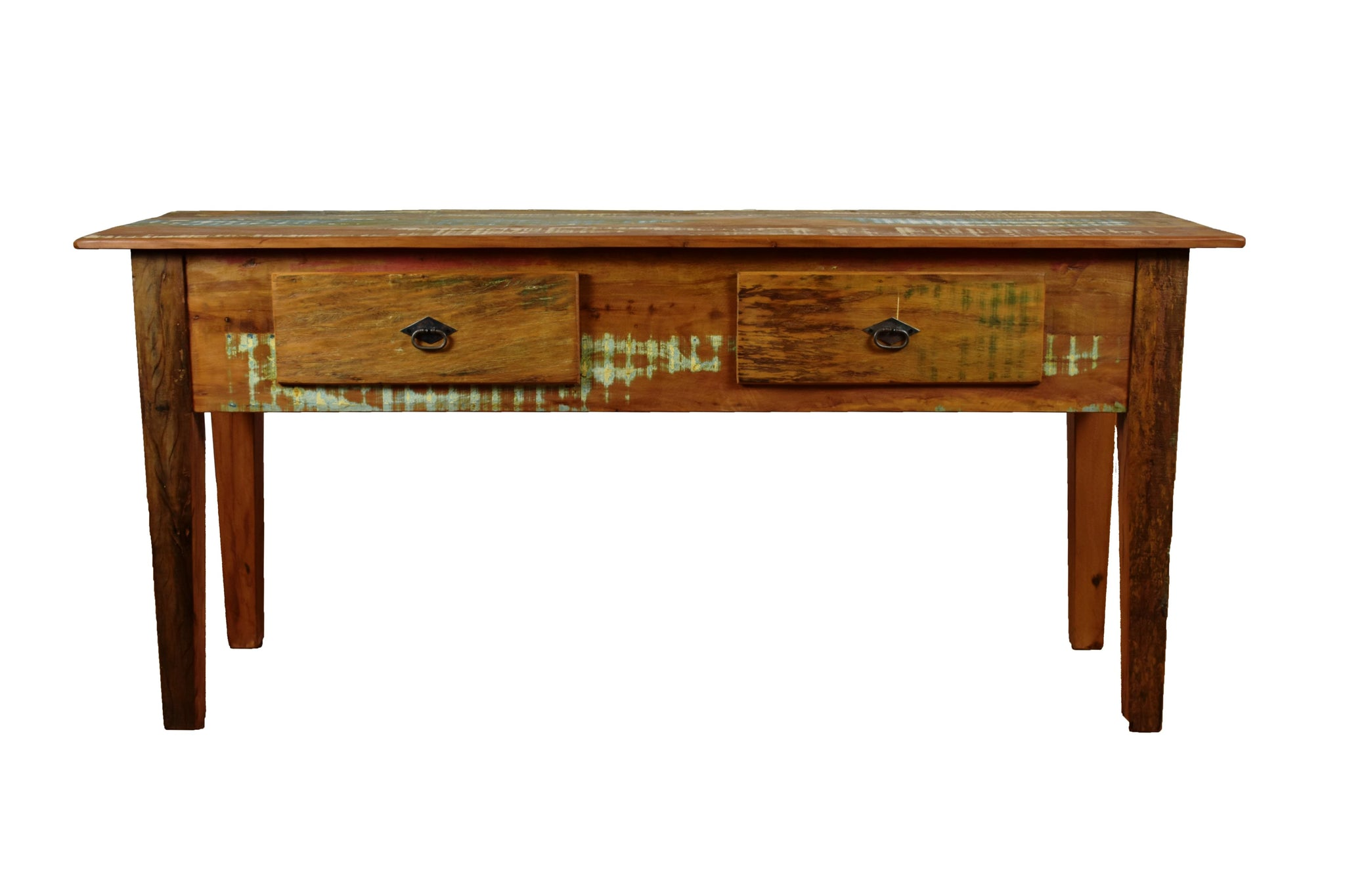reclaimed wood console, distressed, rustic wood, large console table,