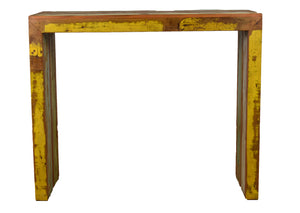 balcony, bar table, reclaimed wood bar table, high console, eco-friendly, peroba wood,