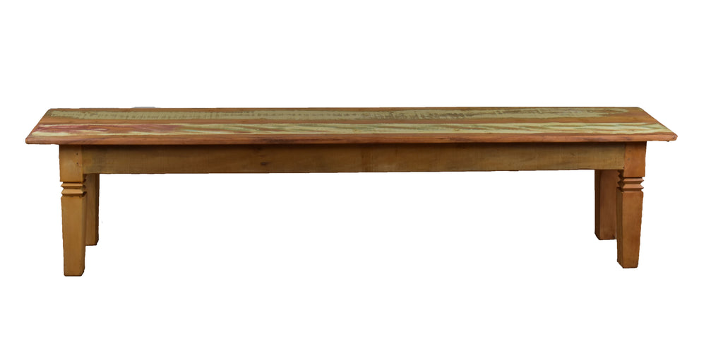 "Dining Bench ""Double Chinese Feet"" - 79"" Long"