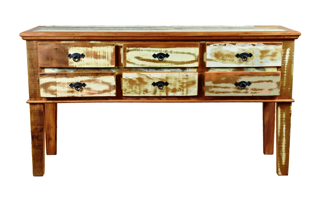 6 Drawer Console Table