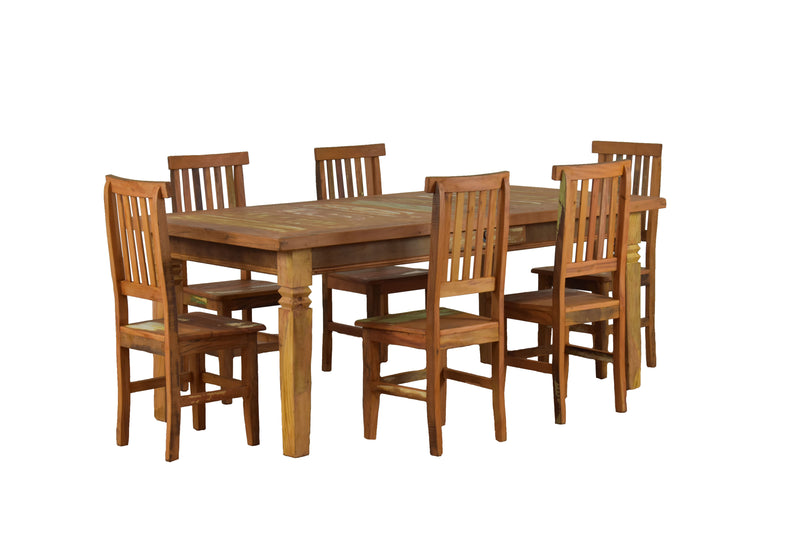 reclaimed wood dining set, reclaimed wood dining, peroba rosa wood, peroba wood dining set, peroba wood dining, rustic, sturdy wood, solid wood, repurposeddining set, dining table, dining room , eclectic, boho, boho chic, french country, cottage, reclaimed wood furniture, indoor outdoor,wood furniture